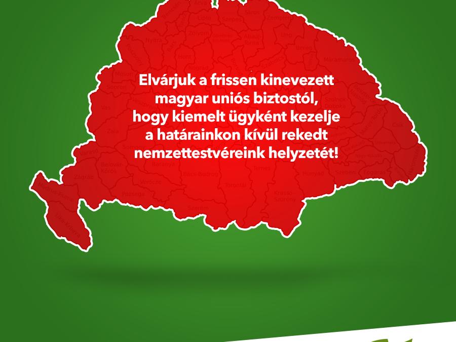 Elvárjuk Várhelyi Olivértől, hogy kiemelt ügyként kezelje a határainkon kívül rekedt nemzettestvéreink helyzetét!