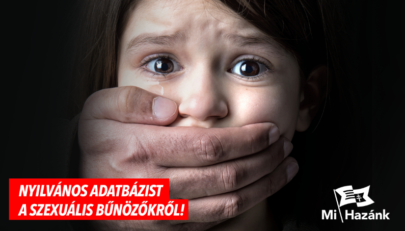 Nyilvános adatbázis létrehozását kezdeményezi a Mi Hazánk a szexuális bűnözőkről