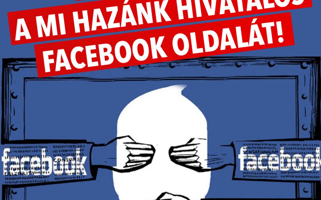 Szintet lépett a Facebook cenzúra – letiltották a Mi Hazánk oldalát