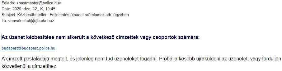 Megtelt a BRFK postaládája Novák Előd feljelentéseivel