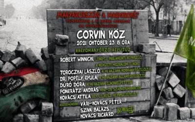 Október 23-i gyűlésünk a Corvin közben: felsorakozik a Mi Hazánk 106 jelöltje